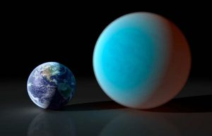 planet 55 Cancri e next to Earth